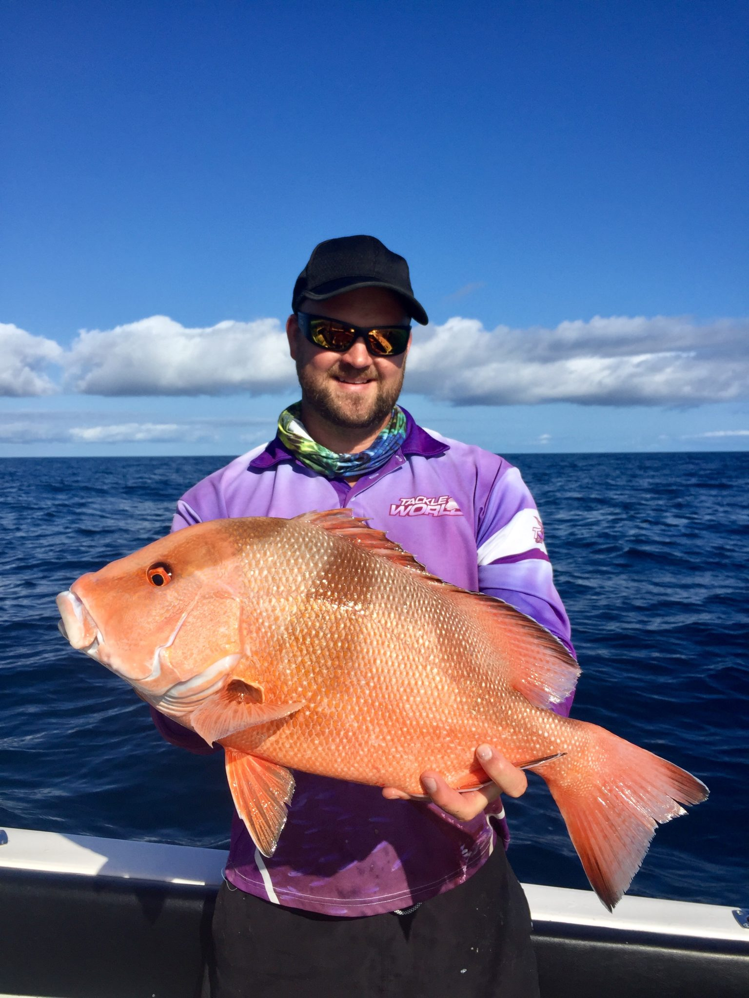Brett Morgan with a nice Red Emperor he caught off Bundy
