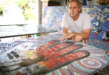Paul Perry finishes mosaic masterpiece