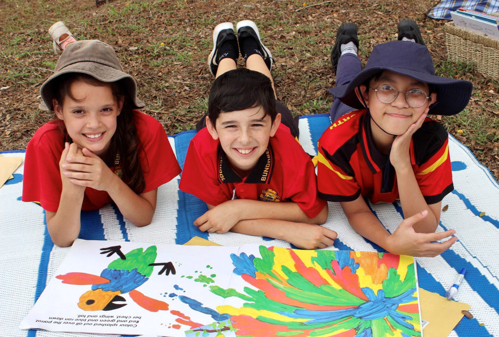 North State School students enjoy the Reading Hunt