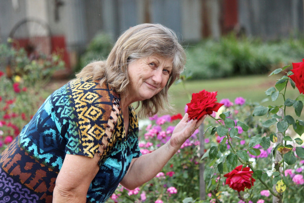 Helen White is fascinated by roses with many growing in her garden beds handed down through the generations.