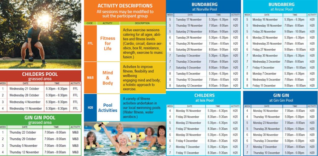 The Be Active, Be Alive activity program.