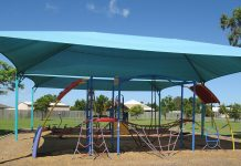 The playground at McCarthy Street Park is one of three featured in Council's Park Upgrades Around the Region Survey.=